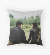 the 100 | Bellamy and Octavia Blake 1 Throw Pillow