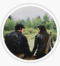 the 100 | Bellamy and Octavia Blake 1 Sticker