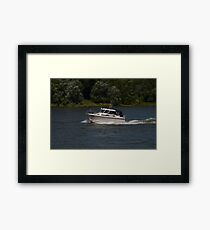 Small Cabin Cruiser Framed Print