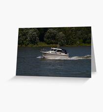 Small Cabin Cruiser Greeting Card