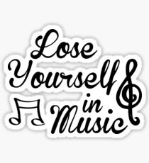 Lose Yourself in Music Sticker
