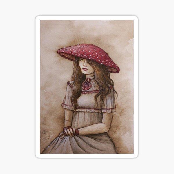 Lady Amanita Muscaria Sticker