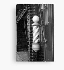 RainbowConfetti Vintage Barber Pole II Metal Print