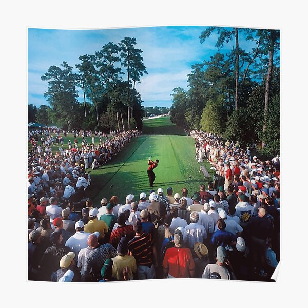 Tiger Woods, 2001 Masters, 18th Hole Poster