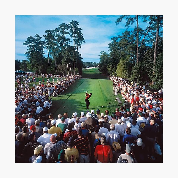 Tiger Woods, 2001 Masters, 18th Hole Photographic Print