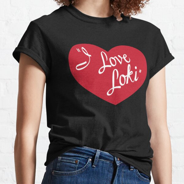 Norse Trickster Love - Red Classic T-Shirt