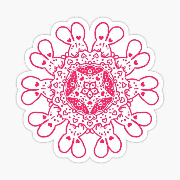 Bunny Mandala Sticker