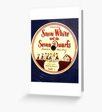 """Snow White & The Seven Dwarfs, Uncle Henry- 5"""" 78  Greeting Card"""