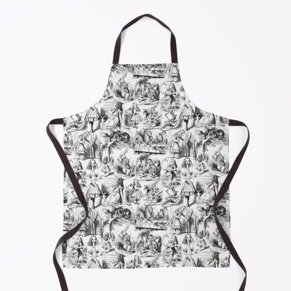 Alice in Wonderland Pattern | Toile de Jouy | Toile Pattern | Black and White | Vintage Alice | Patterns | Apron