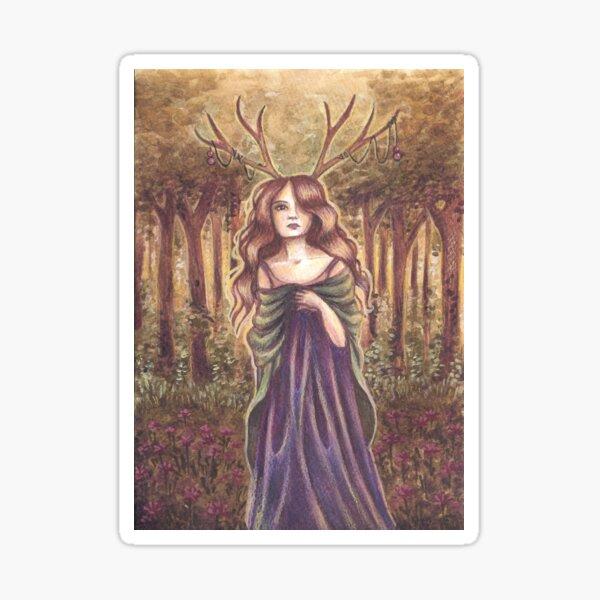 Horned Goddess Sticker