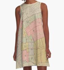 Vintage Map of Elizabeth NJ (1902) A-Line Dress