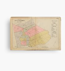 Vintage Map of Elizabeth NJ (1902) Metal Print