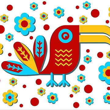 Tucán, pájaro, pajarito, colorido de boom-art