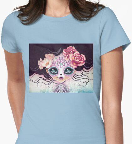 Camila Huesitos - Sugar Skull Womens Fitted T-Shirt