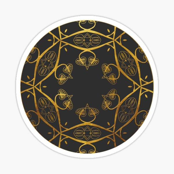Golden Mandala 2 Sticker