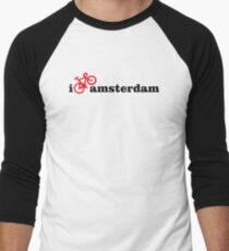 I Love Amsterdam - Red Bike Men's Baseball ¾ T-Shirt
