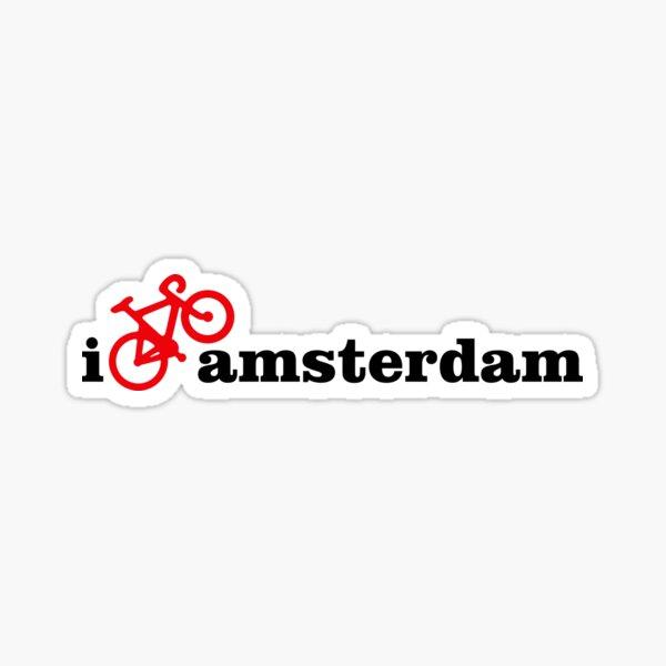I Love Amsterdam - Red Bike Sticker