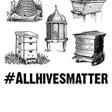 Beekeeper T-Shirt All Hives Matter by BuzzArtGraphics