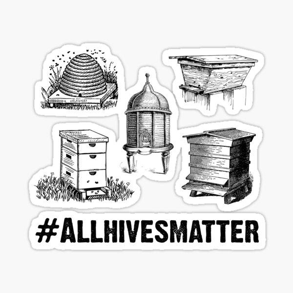 Beekeeper T-Shirt All Hives Matter Sticker