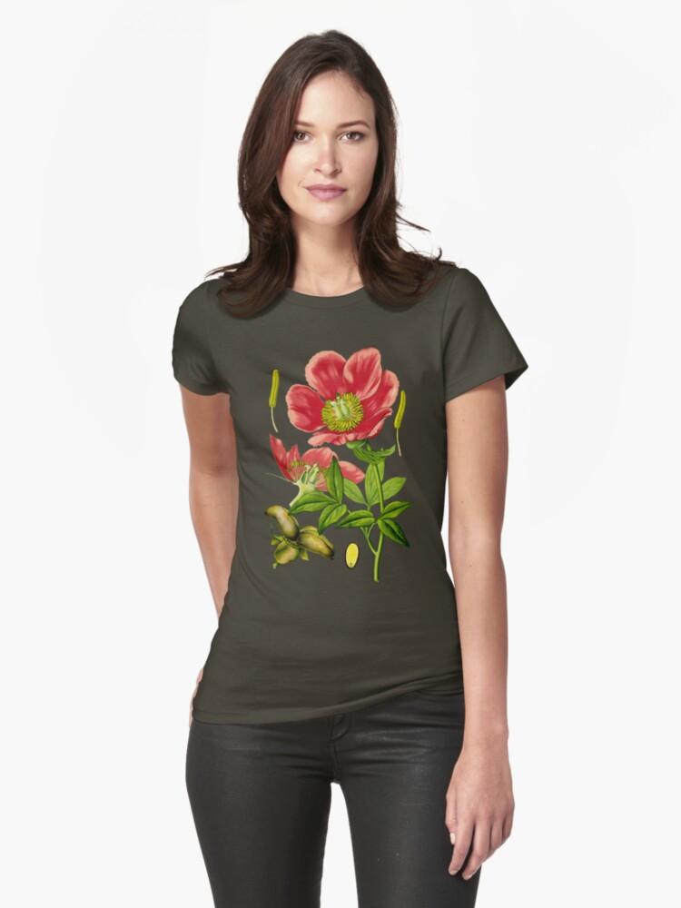 wild peony Womens T-Shirt Front