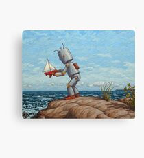 robot sailboat Canvas Print