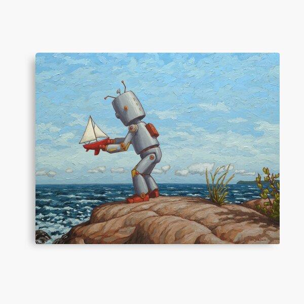 robot sailboat Canvas Print