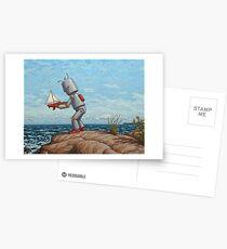 robot sailboat Postcards
