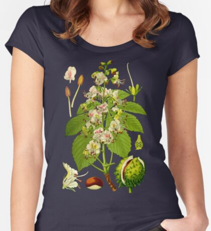 chestnut Women's Fitted Scoop T-Shirt