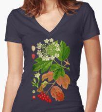 guelder rose Women's Fitted V-Neck T-Shirt