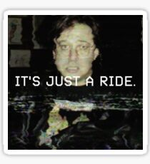 "Bill Hicks ""It's just a ride."" Glitch Art Sticker"