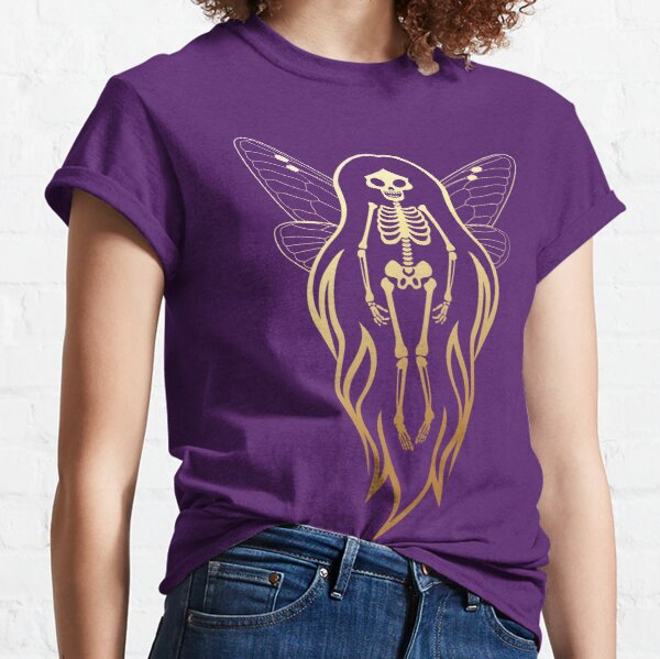 Gold Faery Skeleton Flame Hair Gradient Classic T-Shirt