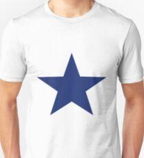 dunkel Blauer Stern Unisex T-Shirt
