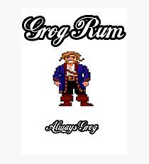 Monkey Island Grog Rum Photographic Print