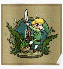 Zelda Wind Waker Forbidden Woods Temple Poster