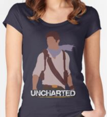 Uncharted - Minimalist Art Women's Fitted Scoop T-Shirt