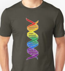 Rainbow Double Helix Unisex T-Shirt