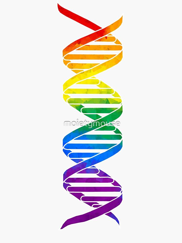 Regenbogen-Doppelhelix von moietymouse