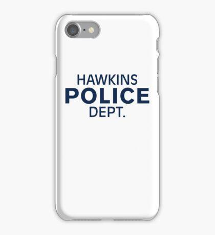 Hawkins Indiana Police Dept. iPhone Case/Skin