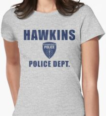 Hawkins Indiana Police Department Shield Women's Fitted T-Shirt