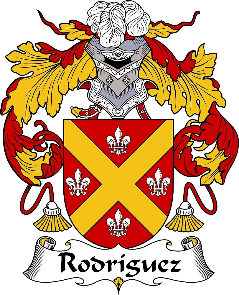 Rodriguez Coat of Arms/Family Crest by William Martin