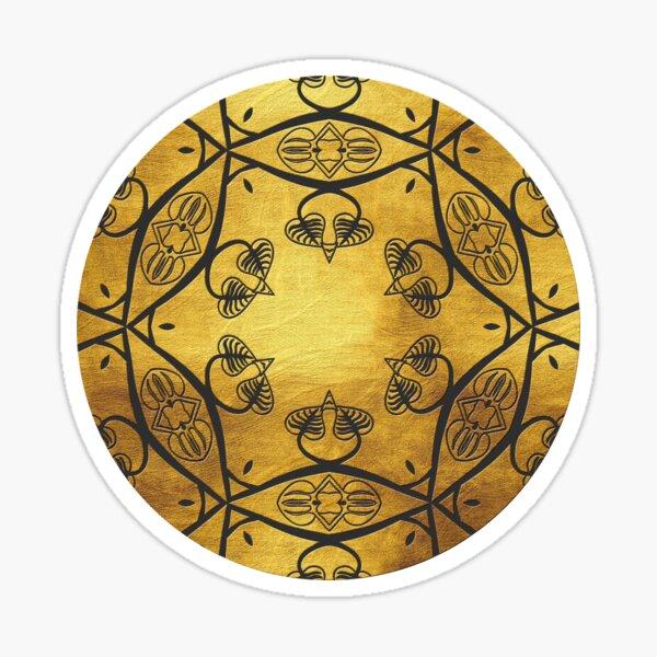Golden Mandala 3 Sticker