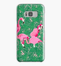 Flamingos on delicious monsters Samsung Galaxy Case/Skin