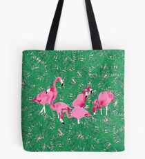 Flamingos on delicious monsters Tote Bag