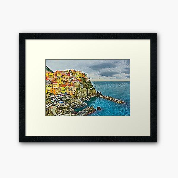 Manarola in Cinque Terre, Italy Framed Art Print