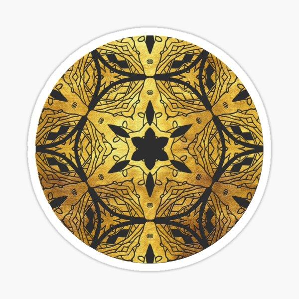 Golden Mandala 6 Sticker