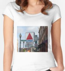 Citgo Sign At Fenway Park Women's Fitted Scoop T-Shirt
