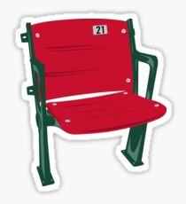 The Lone Red Seat - Fenway Park Sticker