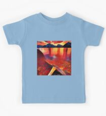 Abstract landscape in red Kids Tee