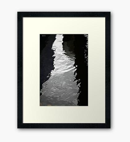 Bianco e nero . Andrzej Goszcz. Framed Print