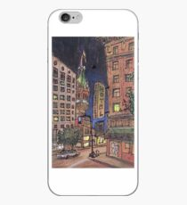 Up late at Traveler's hotel iPhone Case